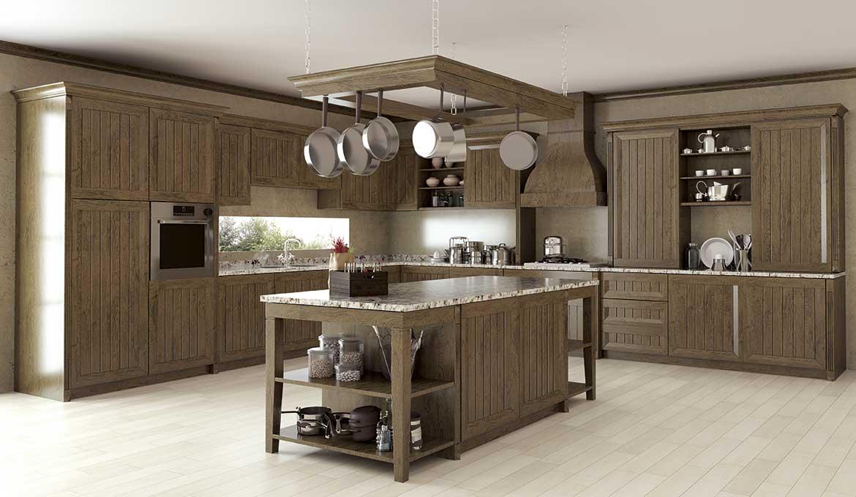 Muebles de cocinas roble